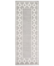 "CLOSEOUT! Surya  Horizon HRZ-1062 Medium Gray 2'7"" x 7'3"" Area Rug"