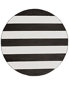 "Horizon HRZ-1089 Black 7'10"" Round Area Rug"