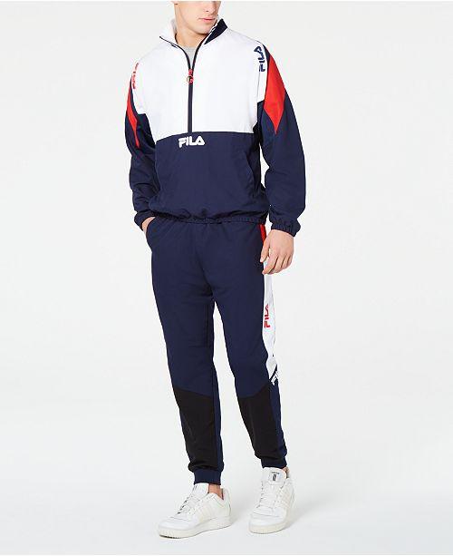 Fila Men's Colorblocked Wind Jacket & Pants