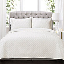 Ava Diamond Oversized Cotton 3-Piece King Quilt Set