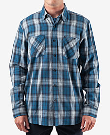 Rip Curl Men's Holmes Regular-Fit Yarn-Dyed Plaid Flannel Shirt