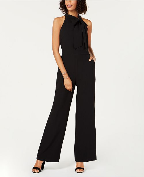 9e53e50b4bf Vince Camuto Bow-Neck Halter Jumpsuit   Reviews - Pants   Capris ...