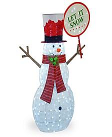"""66"""" Pre-Lit Snowman Decoration"""