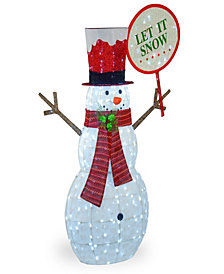 "National Tree Company 66"" Pre-Lit Snowman Decoration"