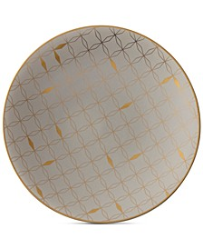 Trianna Salad Plate with Gold-Tone Accents