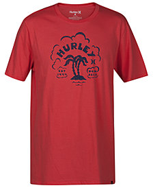 Hurley Men's Twin Palms Graphic T-Shirt