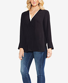 Vince Camuto Double V-Neck Top