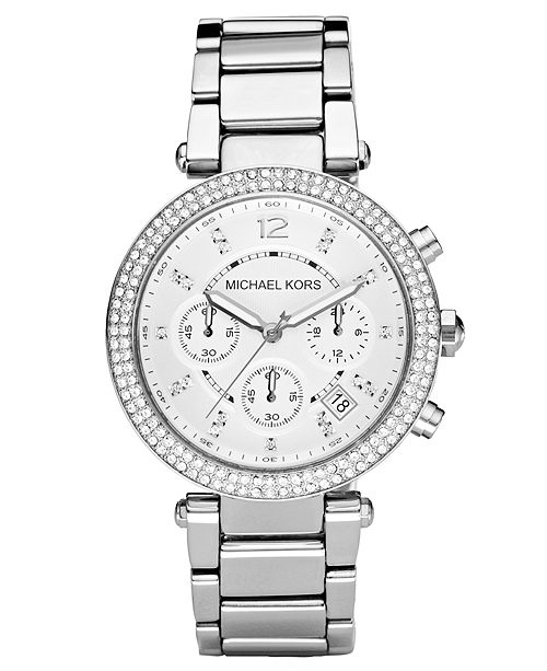9fff90af0bc1 Michael Kors Women s Chronograph Parker Stainless Steel Bracelet Watch 39mm  MK5353 ...