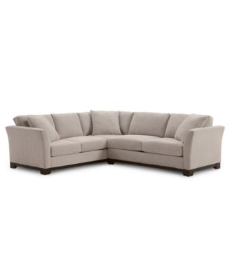 """Elliot II 108"""" Fabric 2-Pc. Apartment Sectional Sofa, Created for Macy's"""