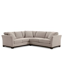 "Elliot II 108"" Fabric 2-Pc. Apartment Sectional Sofa, Created for Macy's"