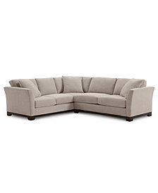 "Elliot II 108"" Fabric 2-Pc. Apartment Sectional, Created for Macy's"