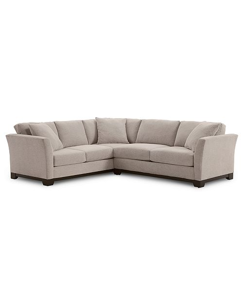 Elliot II 108 Fabric 2-Pc. Apartment Sectional Sofa, Created for Macy\'s