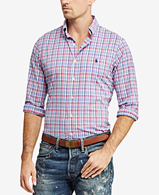 Polo Ralph Lauren Men's Classic Fit Plaid Oxford Shirt