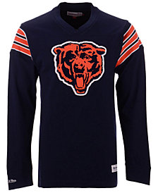Mitchell & Ness Men's Chicago Bears Team Captain V-Neck Long Sleeve T-Shirt