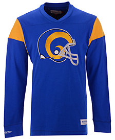 Mitchell & Ness Men's Los Angeles Rams Team Captain V-Neck Long Sleeve T-Shirt