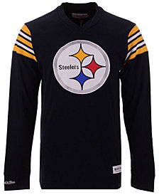 Mitchell & Ness Men's Pittsburgh Steelers Team Captain V-Neck Long Sleeve T-Shirt
