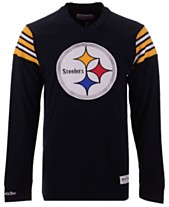 4969d1e78 Mitchell   Ness Men s Pittsburgh Steelers Team Captain V-Neck Long Sleeve T- Shirt