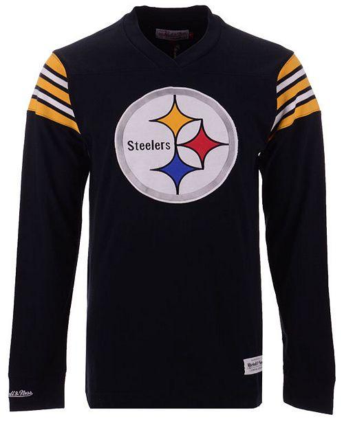 ... Men s Pittsburgh Steelers Team Captain V-Neck Long Sleeve T-Shirt ... f18e11a4a