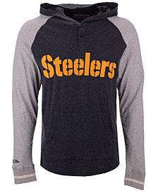 Mitchell & Ness Men's Pittsburgh Steelers Slugfest Lightweight Hooded Long Sleeve T-Shirt