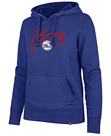 '47 Brand Women's Philadelphia 76ers Clean Sweep Headline Hoodie