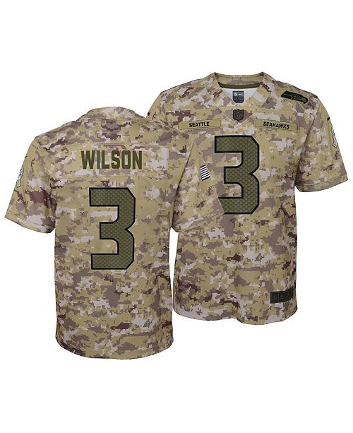 Top Nike Russell Wilson Seattle Seahawks Salute To Service Jersey 2018