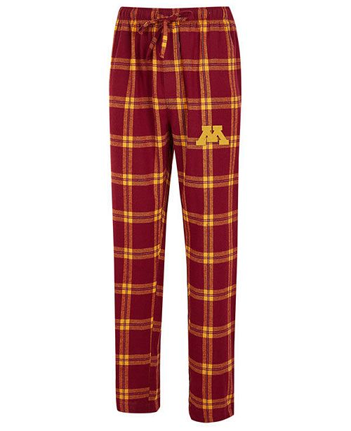 Concepts Sport Men's Minnesota Golden Gophers Homestretch Flannel Pajama Pants