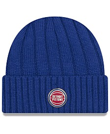 New Era Detroit Pistons Metal Cuffed Knit Hat