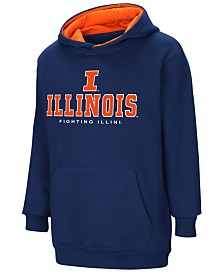 Colosseum Illinois Fighting Illini Pullover Hooded Sweatshirt, Big Boys (8-20)