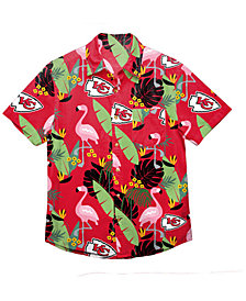 Forever Collectibles Men's Kansas City Chiefs Floral Camp Shirt
