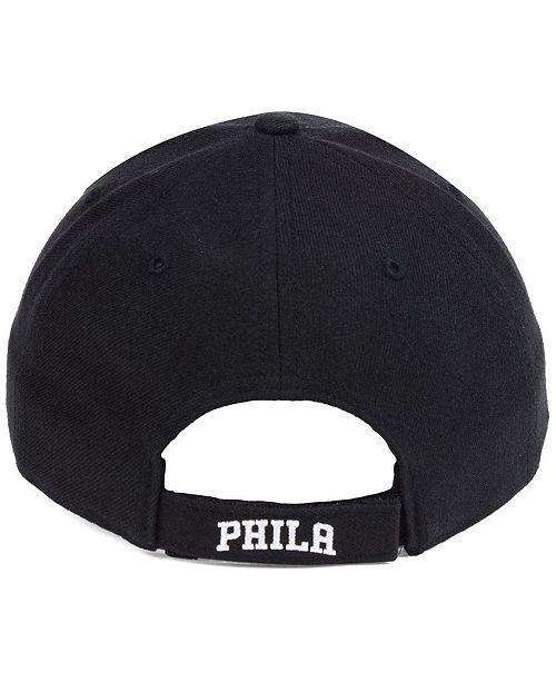 0e7724fb74cc4 47 Brand Philadelphia 76ers Black White MVP Cap   Reviews - Sports ...