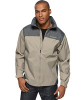 Columbia Men's Glennaker Lake Rain Jacket with Hideaway Hood (Tusk/Grill) + Beauty item for Free Shipping