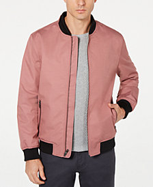 Alfani Men's Fashion Ribbed Bomber Jacket, Created for Macy's
