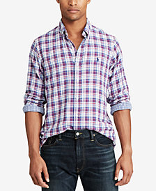 Polo Ralph Lauren Men's Big & Tall Classic Fit Plaid  Shirt
