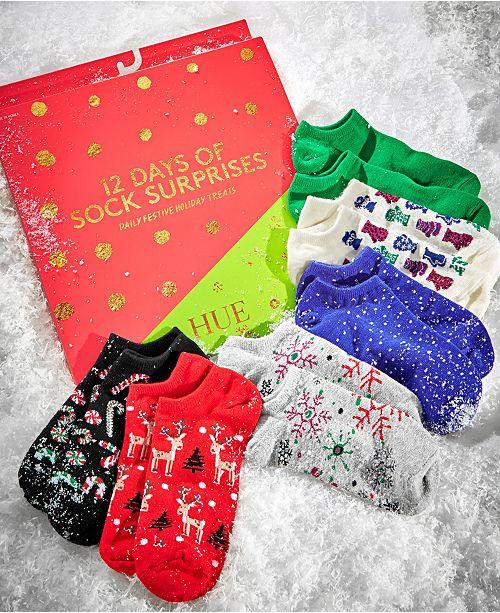 12 Days Of Christmas Socks.Hue 12 Days Of Sock Surprises Advent Calendar Gift Set