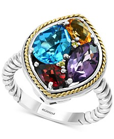 EFFY® Multi-Gemstone Ring (4-4/8 ct. t.w.) in Sterling Silver & 18k Gold