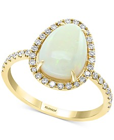 EFFY® Opal (1-3/4 ct. t.w.) & Diamond (1/3 ct. t.w.) Ring in 14k Gold