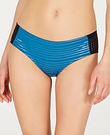 6:1 Shine Stripe Hipster Bikini Bottoms