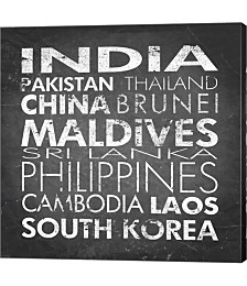 Asia Countries by Veruca Salt Canvas Art