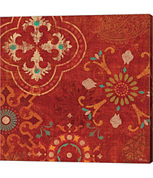 Crimson Stamps III by Pela Studio Canvas Art