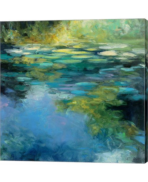 Metaverse Water Lilies III by Julia Purinton Canvas Art