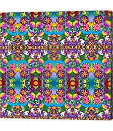 Doves and Flowers by Howie Green Canvas Art
