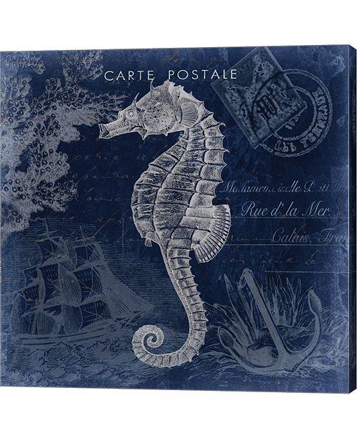 Metaverse Seaside Postcard Navy II by Tre Sorelle Studios Canvas Art