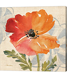 Watercolor Poppies V by Pamela Gladding Canvas Art