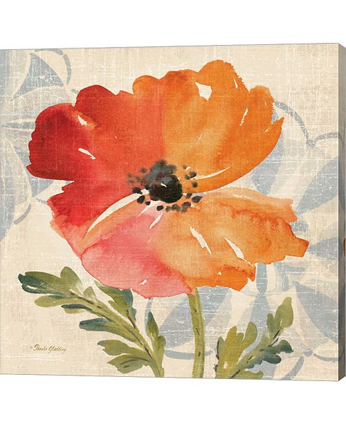 Metaverse Watercolor Poppies V by Pamela Gladding Canvas Art