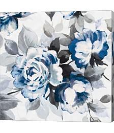 Scent of Roses indigo III by Wild Apple Portfolio Canvas Art