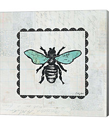 Bee Stamp by Courtney Prahl Canvas Art