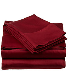 Superior 400 Thread Count Premium Combed Cotton Solid Sheet Set - Queen