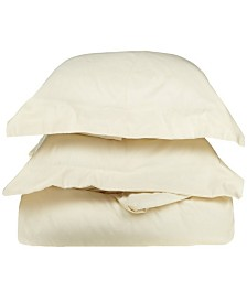 Superior 800 Thread Count Cotton Solid Duvet Set - Full/Queen