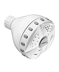 4-Setting Fixed-Mount White Showerhead