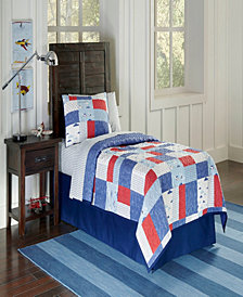 Airplanes Quilt Set- F/Q